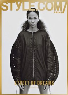 Issue 05 Street of Dreams Joan Smalls in Hood by Air by Jamie Morgan