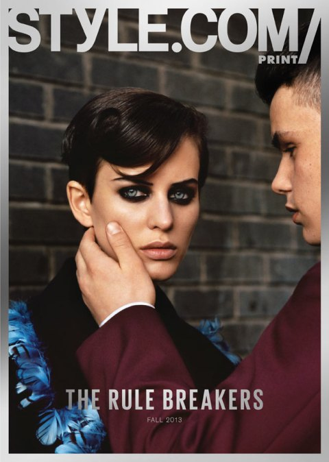Issue 04 The Rule Breakers Elinore Ericchssen in Christopher Kane by Alasdair McLellan